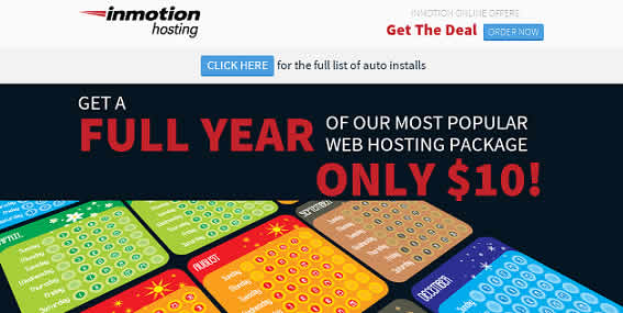 InMotion Hosting $10 cupon oferta