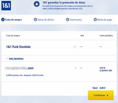 dominio 0 49 euros