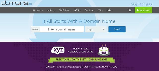 Registra tu Nombres de dominio XYZ Gratis
